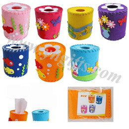 Wholesale design mixed DIY felt weave towel tube craft kits Home decoration activity items kids toys