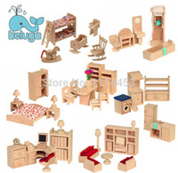 Wholesale small furniture house dream wooden dollhouse pretend play house great gift for kids box