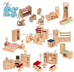 wholesale small furniture house dream wooden dollhouse pretend play house great gift for kids 1 box free shipping cheap dollhouse furniture for kids affordable dollhouse furniture