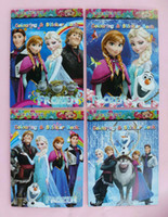 Wholesale Frozen Colouring Sticker Book Kid Paint Learning Notebook Children Creativity Drawing Toys Size cm
