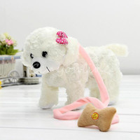 Wholesale Kawaii Singing Dancing Walking Electronic Moving White Rose Dog Puppy Toy Gift For Kids Children Girl Child