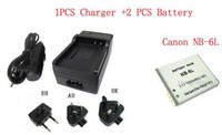Wholesale 1PCS Charger Battery Canon NB L NB6L V Canon Digital Camera Battery Batteries