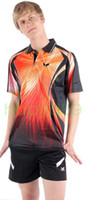 Wholesale Newest fashion table tennis butterfly sportswear shirt amp shorts orange