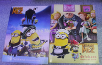 Wholesale new Despicable Me Coloring Notebook kids cute Minions Coloring book stickers Children Cartoon Educational Drawing Toys