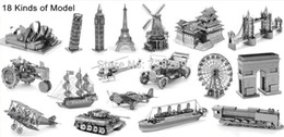 Wholesale D Metal Model Puzzle D Model Building Kits Puzzle D Solid Jigsaw Puzzle N Scale Model Building Ship Airplane Car Helicopter