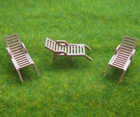 Wholesale YZ8703 Model Railway Layout Sun Loungers Beach Chairs HO OO Scale