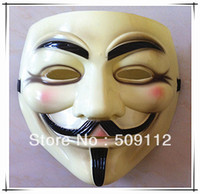 Wholesale for CPAM V vendetta team guy fawkes masquerade Halloween carnival Mask g light yellow pieces