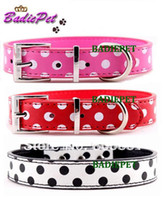 Wholesale MOQ colors amp Sizes available New Polka Dot Dog Collar