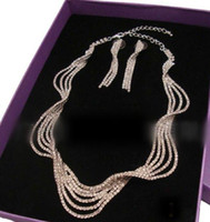Fashion Jewelry Sets Silver Wave luxury alloy jewelry set (i...
