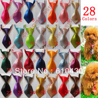 Wholesale Adjustable Pet Dog Cat Handsome Bow Tie Necktie Neck Collar Cute gift Pure color pet tie colours