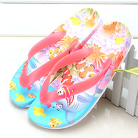 Cheap Wholesale-New children slippers cartoon Flip flop fashion Parent-child shoes Family fitted sandals kids slippers Summer Beach shoes girls