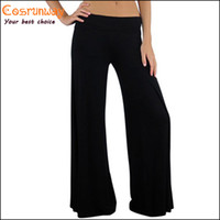 Cheap Wholesale-Hot Sale New Brand Casual Women Pants Loose Women's Zigzag Palazzo Wide Leg Pants Yoga 5 Colors Plus Size M,L,XL,XXL,XXXL