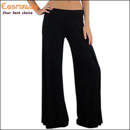 Wholesale Hot Sale New Brand Casual Women Pants Loose Women s Zigzag Palazzo Wide Leg Pants Yoga Colors Plus Size M L XL XXL XXXL