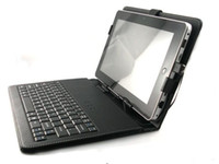 Wholesale 12pcs inch Foldable Leather case with USB Keyboard holster for Apad ZT Epad X220 android