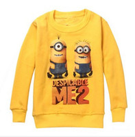 Wholesale new autumn winter children hoodie long sleeve boys sweatshirt minions cartoon kids pullover toddler baby velour outerwear jacket