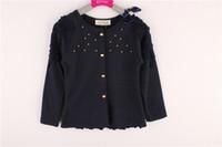 beaded hoodie - Brand New Spring Autumn Chidren Outwear Hoodies Sweety Cotton Girl Bow Coat Korean Beaded Cardigan