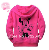 Wholesale Cartoon clothing Mickey Girl s top Shirts Hooded Sweater Hoodie Children Clothing