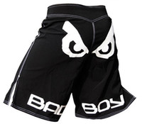 Wholesale big eye mma shorts Muay Thai fighting shorts two color