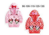 Wholesale new children s Autumn Hooded Tops girls minnie clothing Long Sleeved fashion hoodies baby clothing cotton