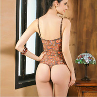 Cheap Wholesale-Women Intimate Slimming Body Shaper Thong Sexy Lingerie Push up Bra Bodysuit One Piece Corset Leotard Top Shapewear Teddy