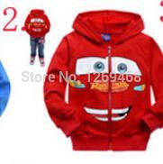 Wholesale Kids boys and girls cartoon cat terry hoodie sweater car spider zipper jacket A0502 Xiao Long Bei Bei