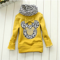 Wholesale New Minnie clothing children fashion outerwear Winter kigs girls hoodies sweater casual the jacket