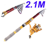 Wholesale Hybrid carbon Pesca M FT Portable Telescope Fishing Rod Travel Spinning Fishing Pole