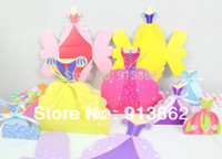 Cheap Wholesale-40 PCS Princess Wedding Dress Gown Favor Box Favors bags,Birthday Favor Boxes Party gift Boxes for candies