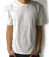 Wholesale Short sleeve T shirts Blank T shirts white T shirt cotton four sizes L XL XXL XXXL