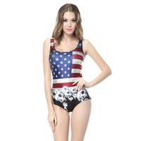 american flag swimsuit - American Flag New Bathing Suit Digital Print Swimsuit Brand One Piece Swimwear Women Piece Swimsuit Beachwear CYQ1067