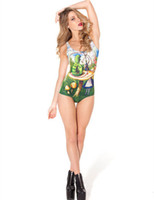 alice knitting - RESUN KNITTING black milk Alice and Caterpillar Swimsuit LIMITED digital print fashion green bugs sexy one piece women