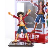 achat en gros de zéro un gros-Vente en gros-Anime Cartoon un morceau zéro nouveau monde Luffy PVC Action Figure Collection modèle jouet coffret 16cm OPFG218