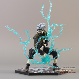Wholesale Comercio al por mayor Libre Anime Naruto Ninja Kakashi Hatake Copiador con Acción Lightning Blade PVC Figure Collection modelo de juguete NTFG043