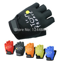 Wholesale Bike Bicycle Cycle Fitness Half Finger Outdoors Sports Cycling Gloves For Women Men