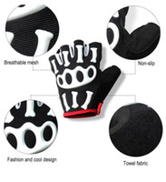 best football gloves - Best Quality Half Finger Gel Gloves For Cycling bike bicycle Fitness Gym Wear Exercise Workout Training