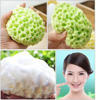 washing powder - Facial Puff Face Wash Cleansing Sponge Green Facial Sponge Face Makeup Cleansing Wash Pad Seaweed Powder Puff