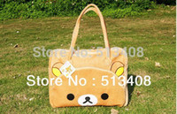 cartoon character - Drop Shipping Cartoon Rilakkuma Bear multifunction shoulder bag laptop case notebook messenger bag
