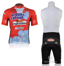 2010 ACQUA SAPONE TEAM Short Sleeve Cycling Jersey + Bib Short