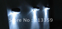 Wholesale for PACK OF SOLAR POWERED FENCE LIGHTS EASY INSTALL LED WALL GARDEN NO WIRING