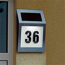 Wholesale solar light lamps Stainless steel outdoor wall light solar door number waterproof solar house number