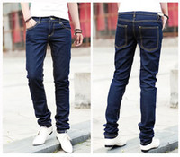 Wholesale Pencil Jeans Men Spring Male Trousers Slim Fit Pencil Pants Boys Skinny Casual Male Fashion Ripped Mens Denim Jeans Man