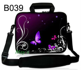Wholesale Purple butterfly quot Bag Carrying Case Shoulder Strap For Apple ipad inch quot Netbook Laptop Tablet