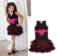 Cheap Wholesale-hot selling 2015 new fashion style children dresses for baby girl bow chest cake voile lace dress high quality