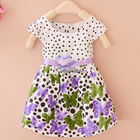 baby flower girl ideas - Girls tutu dresses baby children s Princess Dress summer new girls on the idea of two flower Dot Butterfly