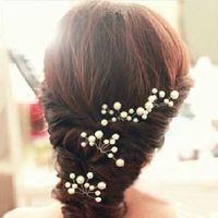 Wholesale Wedding Bridal bridesmaid Pearl Flower Headpiece Hair Pin Hairpin