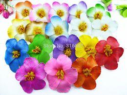 Wholesale mixed colors Foam Hawaiian flower Hibiscus Flower bridal hair clip cm colors