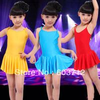 ballet dance costumes - Children dance dress girl ballet suspender dress fitness clothing performance wear leotard costume