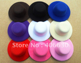 Wholesale quot plain mini top felt hat headwear multiple Colors by China post