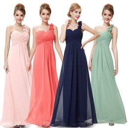 Wholesale-Pretty hot now shoulder length maxi chiffon evening dress