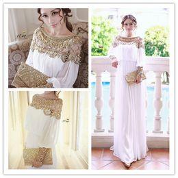 Wholesale new fashion luxury heavy beaded chiffon fancy dubai women kaftan abaya evening dress elegant long brand prom dress